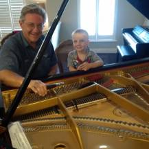 Gary with Grandson Ethan. He watched to whole tuning