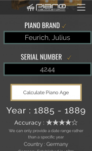 Piano Age Calculator