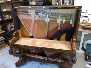 Stripped back piano case